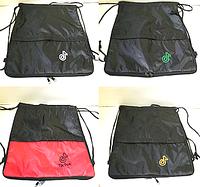 """Сумки,рюкзаки для обуви """"затяжки"""" TikTok +доп.змейка (В ЧЕРНОМ)37х43см"""