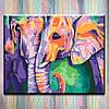 """Набор для творчества - картина по номерам ТМ """"Идейка"""" на подрамнике, Животные """"Индийские краски"""" 40х50 см."""
