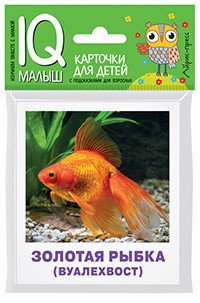 IQ малыш. Умный малыш. Аквариумные рыбы. Набор карточек для детей.