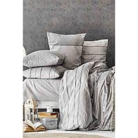 Набор постельное белье с покрывалом Karaca Home - Sadra gri 2020-1 серый евро