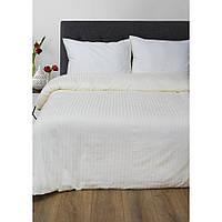 Постельное белье Lotus Отель - Сатин Страйп ваниль 1*1 полуторный (Турция)