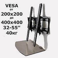 Комплект для TV тюнера - кронштейн 907ST і полку Bronze (Шоколад) 180*350*6