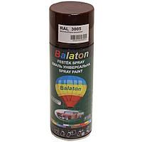 Краска Balaton 3005 темно вишневая 400мл