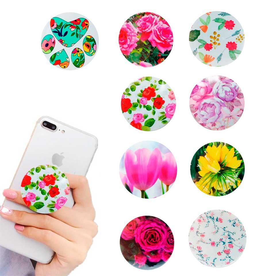 Попсокет держатель для телефона PopSocket Цветы (разные варианты)