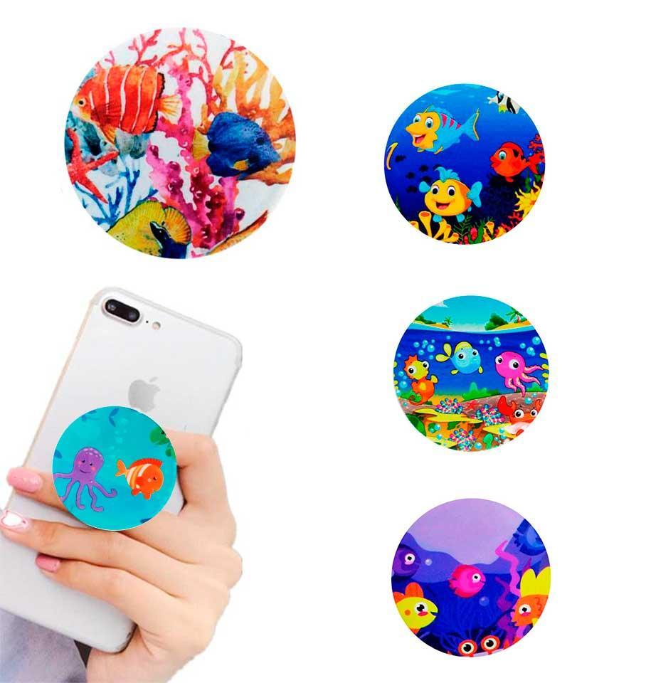 Попсокет держатель для телефона PopSocket Рыбки (разные варианты)