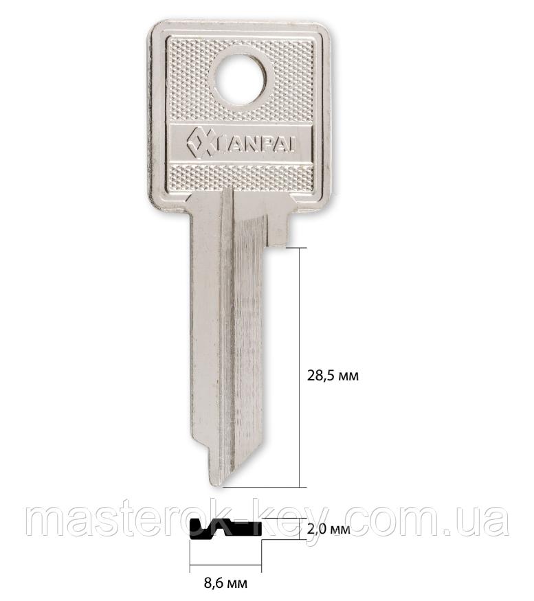 Заготовка ключа AIZ-1