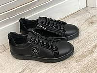 Кожаные кроссовки Детские 7062 ч/к размеры 32-39, фото 1