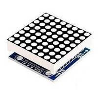 Матричный модуль 8х8 на MAX7219 для Arduino, синий цвет