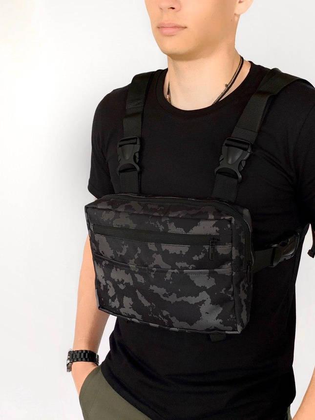 Нагрудная сумка Intruder Camouflage / Мужская Сумка барсетка камуфляж, фото 2