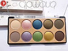 Палетка теней для век MERCI Diamond Eyeshadow матовые и перламутровые 10 цветов M-510 № 02 Серые/коричневые/фи, фото 6