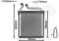 Радиатор отопления SKODA SUPERB II / VW GOLF VI / SKODA YETI / VW GOLF V / VW JETTA IV /VW PASSAT AVA VW6256