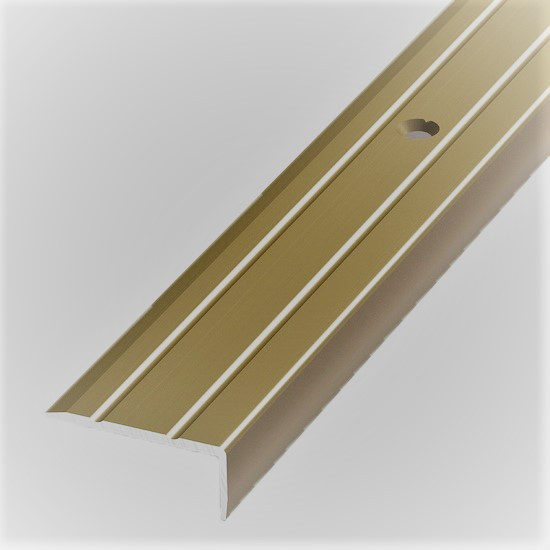 Алюминиевый профиль арт. 316 03 / золото 23,5х9х1800 мм