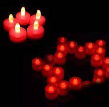 Свеча красная светодиодная набор 5 шт