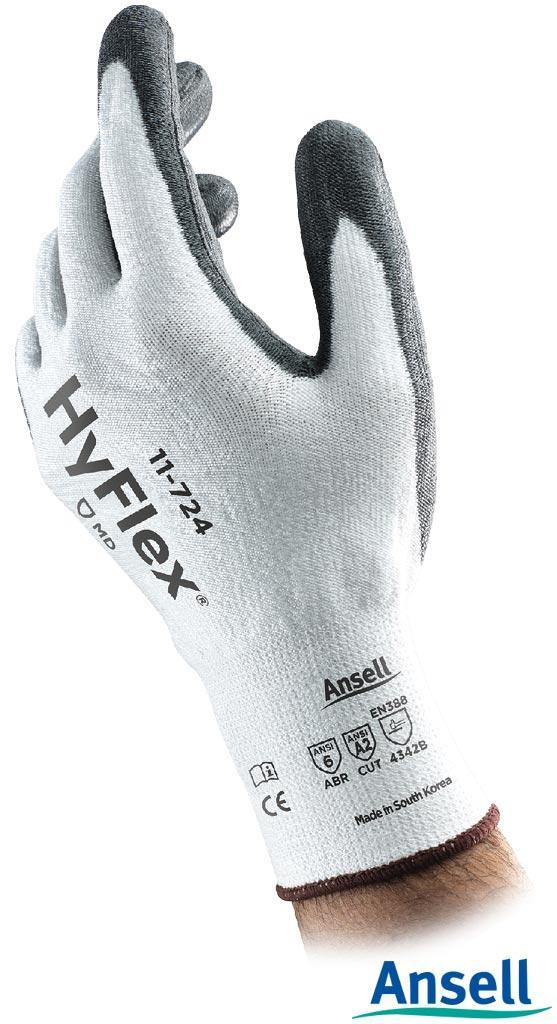 Рукавички робочі вкриті поліуретаном Ansell RAHYFLEX11-724 WB