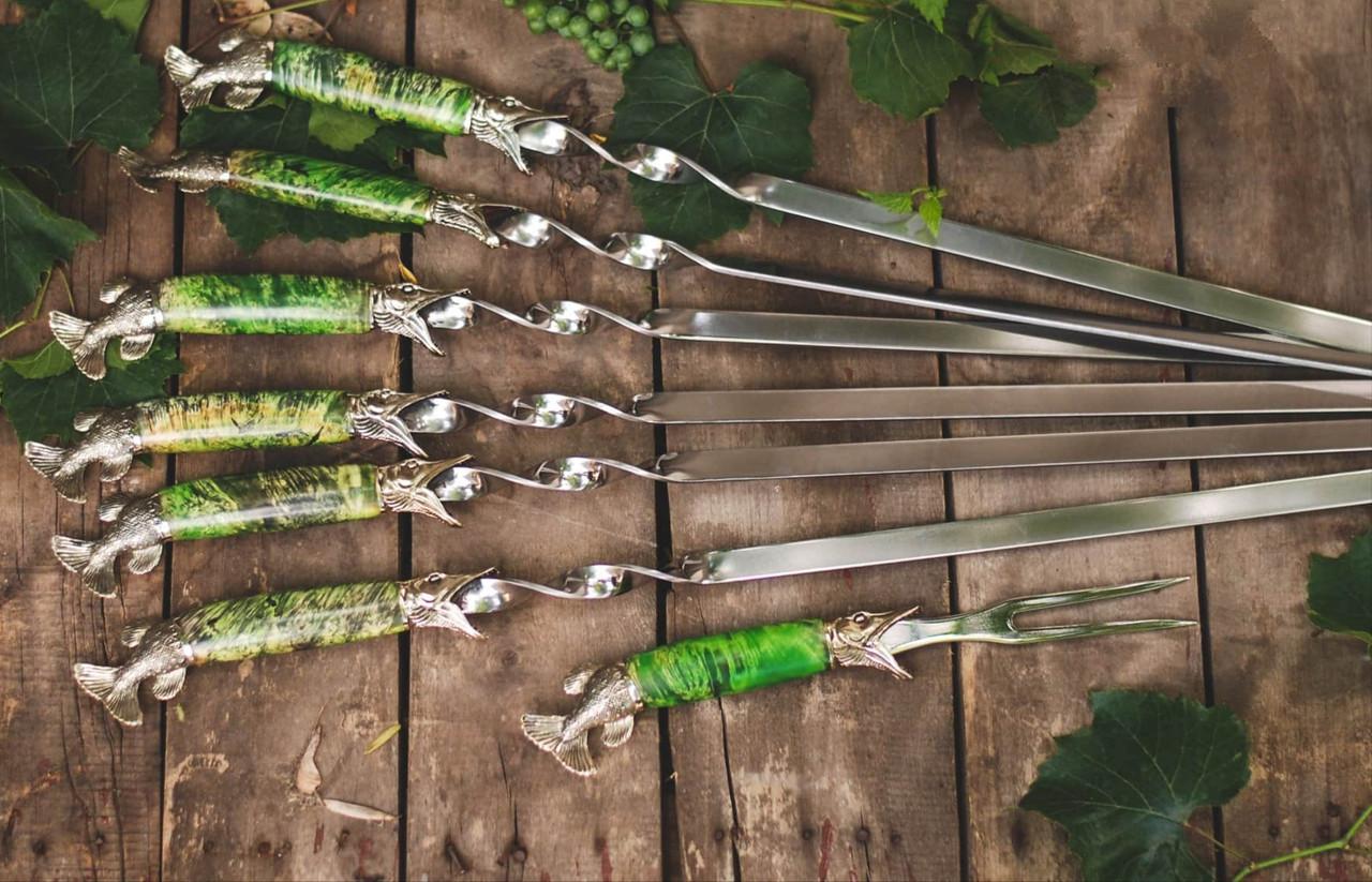 Бронзовий/мельхиоровый комплект для ножа № 32