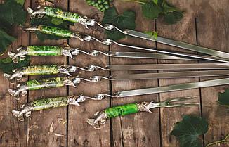 Бронзовий/мельхиоровый комплект для ножа № 32, фото 2