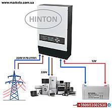Джерело безперебійного живлення HINTON PRISW-1500 / 12VLW, фото 2