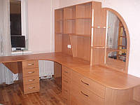Стол угловой с надстройкой, зеркалом и комодом