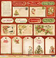 Лист односторонней бумаги 30х30см  Christmas Night от Scrapmir