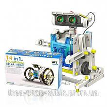 Конструктор робот на сонячних батареях Solar Robot 14 в 1