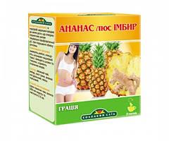 Зелений чай «Грація» ананас + імбир від ТМ Steviasun 20пак..(натуральний цукрозамінник)