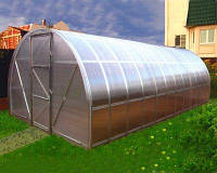 Теплица Oscar Господарка 8 м², 200х400х200 см какрас под сотовый поликарбонат SKL54-240806