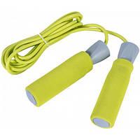 LiveUp Скакалка скоростная LiveUp PVC FOAM HANDLE JUMP ROPE (желтый)