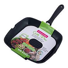 Сковорода-гриль Kamille 28*28*4см с антипригарным покрытием без крышки для индукции KM-4259