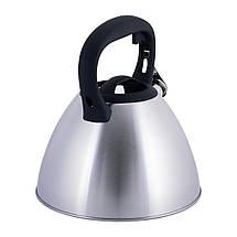 Чайник Kamille 3л из нержавеющей стали со свистком для индукции и газа KM-0651, фото 2