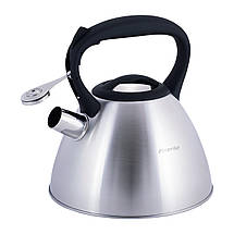 Чайник Kamille 3л из нержавеющей стали со свистком для индукции и газа KM-0651, фото 3