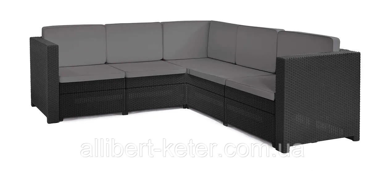 Набір садових меблів Provence Set Without Coffee Table Graphite ( графіт ) з штучного ротанга ( Keter )