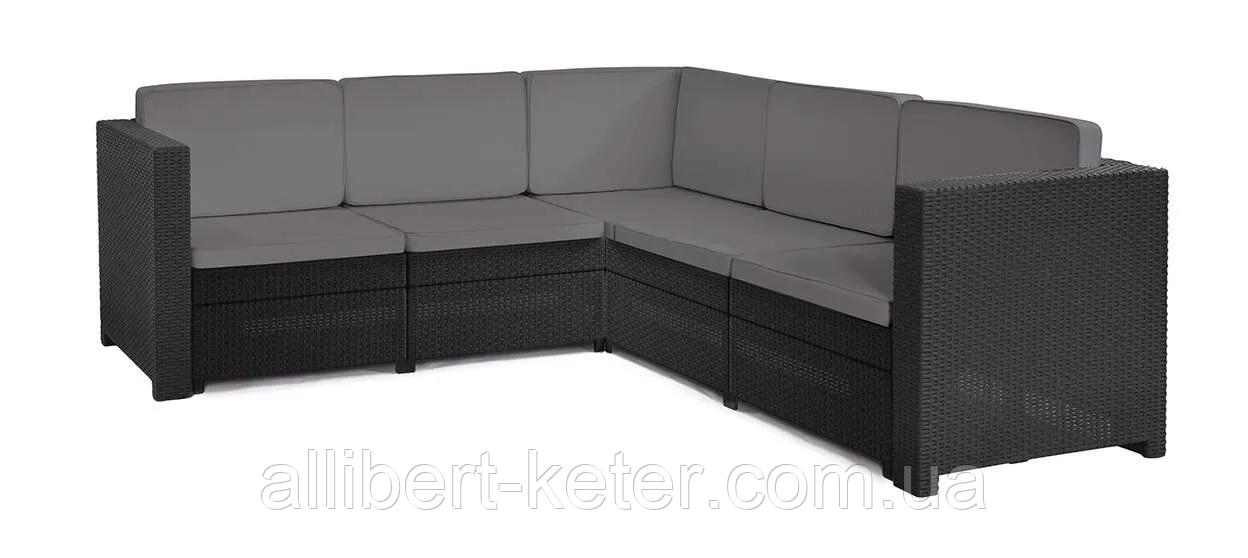 Набор садовой мебели Provence Set Without Coffee Table Graphite ( графит ) из искусственного ротанга ( Keter )