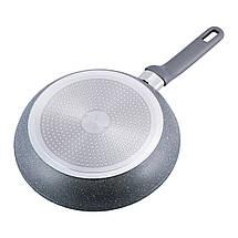 Сковорода Kamille 26см с гранитным покрытием и крышкой для индукции и газа KM-4272GR, фото 3