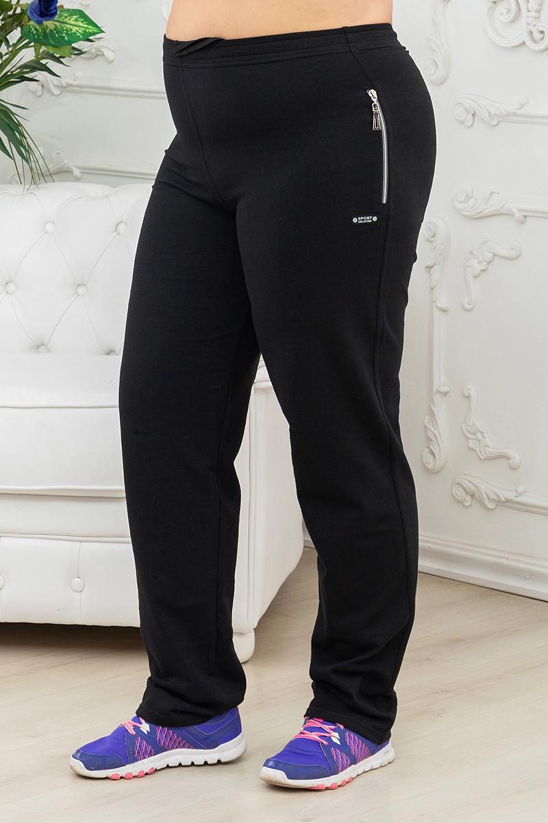Стильные спортивные трикотажные женские брюки на резинке