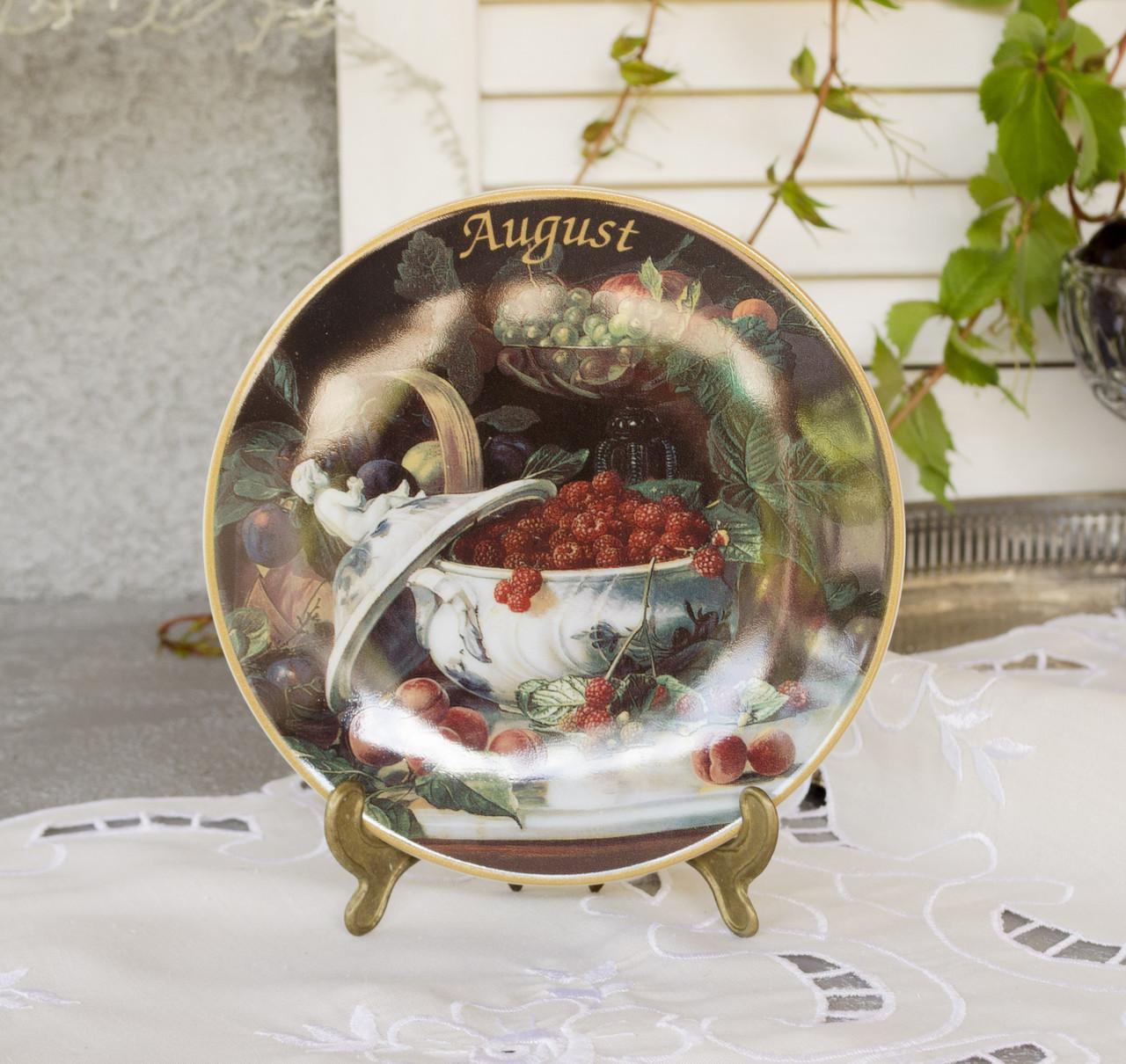 Коллекционная фарфоровая тарелка Август, фарфор, König Porzellan, Германия, 1998 год
