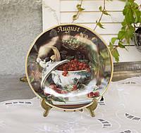 Коллекционная фарфоровая тарелка Август, фарфор, König Porzellan, Германия, 1998 год, фото 1