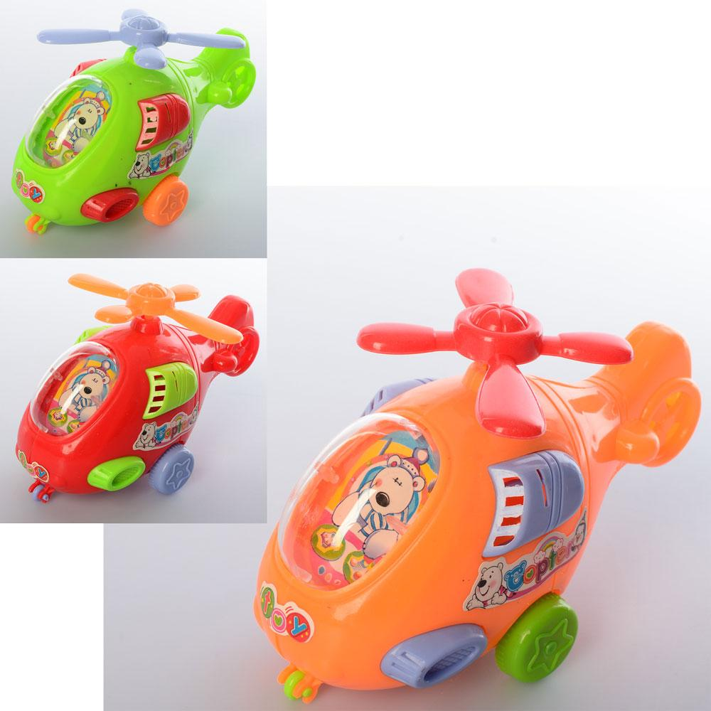 Вертолет 2515  заводной 12,5см, 3цвета, в кульке, 13-5,5-8см