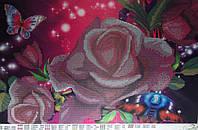 В розовых цветах  Схема вышивки бисером
