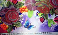 Яркий букет  Схема вышивки бисером