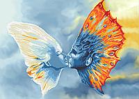Поцелуй бабочек  Схема вышивки бисером