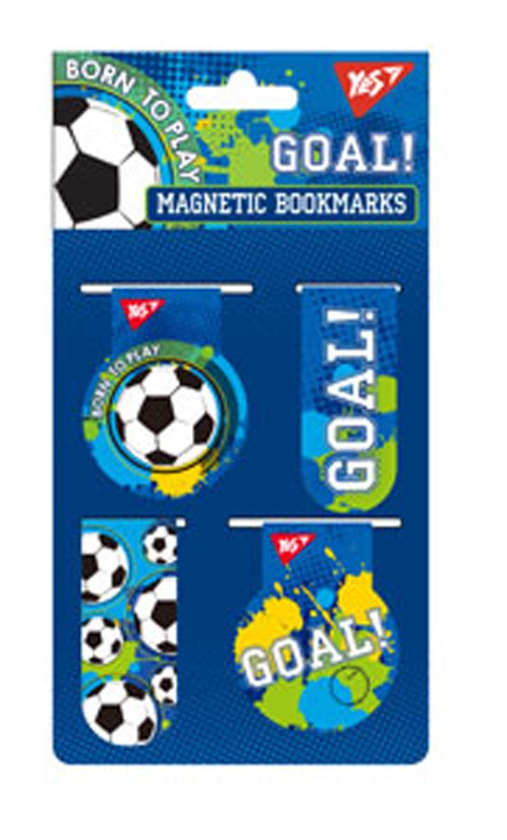 Закладки магнитные YES &ampquotBorn to play&ampquot, 4шт, Украина
