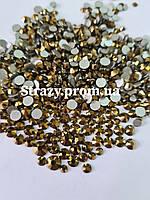 """Стрази Gold Мікс розмірів 1400шт (ss12,ss16,ss20,ss30) """"Crystal Premium"""""""