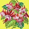 Червона фуксія ( повна зашивання на жовтому ) Схема вишивки бісером