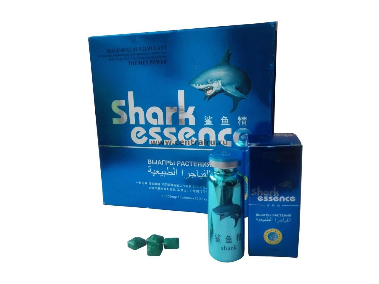 Таблетки для повышения потенции Shark Essence / Акулья Эссенция (10 таблеток)
