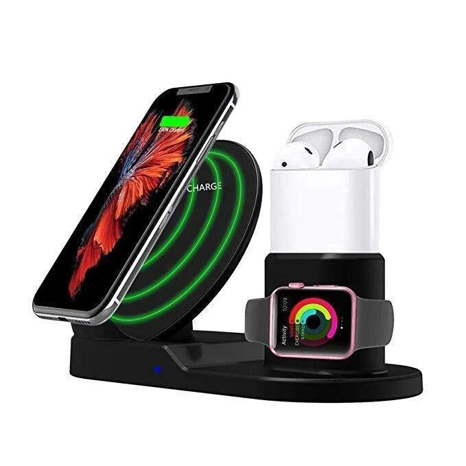 Док-станция беспроводная wireless fast charger 3 в 1