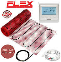 Теплый пол Flex EHM-175/ 15м² 2625Вт нагревательный мат с программируемым терморегулятором E51