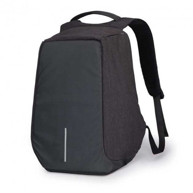 Універсальний Рюкзак міський Протикрадій Bobby з захистом від кишенькових злодіїв Black (dpm00148) чорний