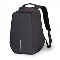 Універсальний Рюкзак міський Протикрадій Bobby з захистом від кишенькових злодіїв Black (dpm00148) чорний, фото 1