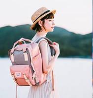 Женский городской рюкзак Doughnut Macaroon розовый  Код 11-0040