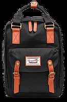 Женский городской рюкзак Doughnut Macaroon чёрный  Код 11-0022